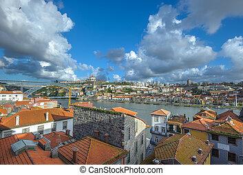 Panorama of Porto and Vila Nova de Gaia, Portugal