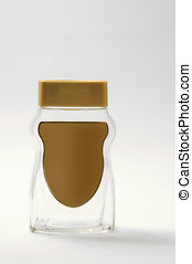 glass canister - empty glass canister