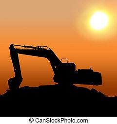 Excavator - Silhouettes of Excavator