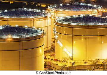 Fuel tanks at night