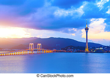 Macau at sunset
