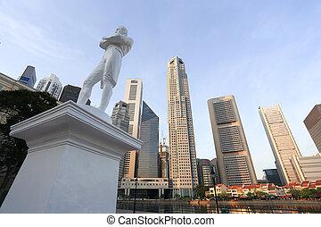 senhor, Rifas, estátua, Cingapura