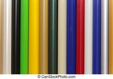 Color vinyl pvc plastic foils