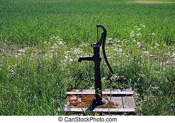 Vatten, pump