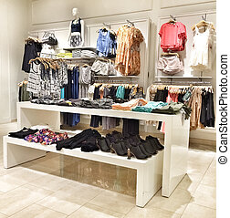 Clothing store - Interior of a clothing store.