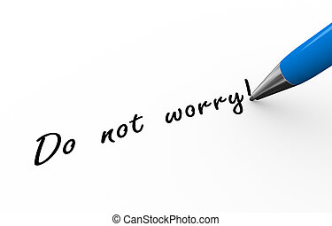 3d pen writing do not worry illustration