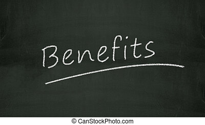chalkboard benefits illustration - Illustration of benefits...