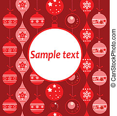 Xmas greeting red card