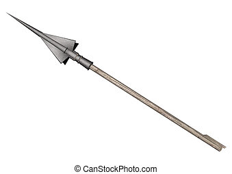 Harpoon Arrow - 3D digital render of a harpoon arrow...