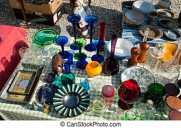 Knick Knack at a flea market - Decorative Knick Knack at a...