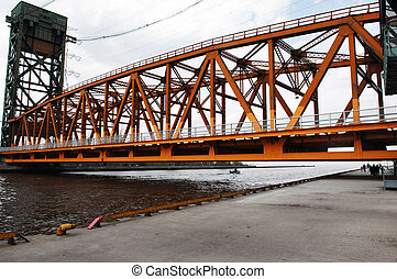 Closeup of lift bridge. - A closeup picture of the lift...