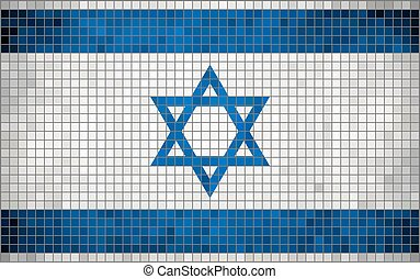 Flag of Israel, mosaic The National flag of Israel. Abstract...