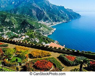 Amalfi coast - View over the Italian Amalfi coast from Villa...