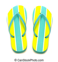 Flip flops - Summer flip-flops on a white background