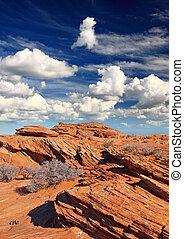 rock formations at glen canyon, Arizona