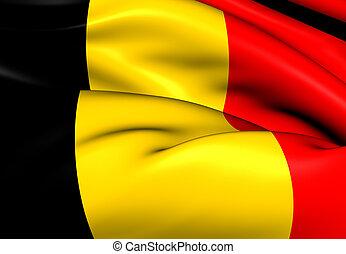 Flag of Belgium. Close Up.