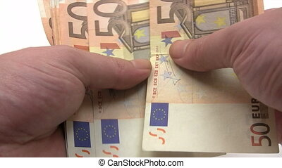 Filling Euro Wage Packet - Canon HV30 HD 16:9 1920 x 1080...