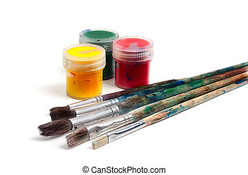 Arts - Items for drawing and art: paints and brushes