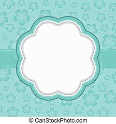 Blue floral frame.