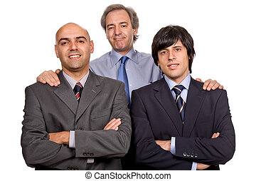 team - three business man isolated on white background