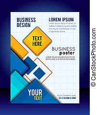 Abstract Business Background Flyer or brochure template