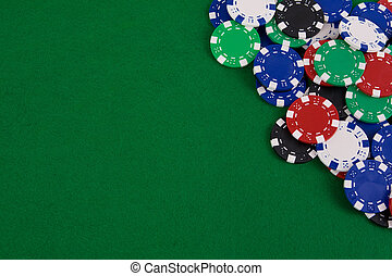 Gambling chips - Casino gambling chips with copy space