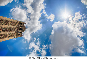 Giralda and blue sky in Seville - An hdr photo of the...