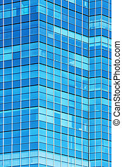 glass facade of modern office building background