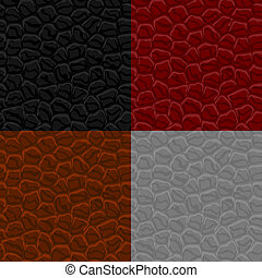 Seamless leather texture. Vector illustration.