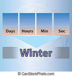 Time Countdown to Winter
