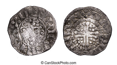 Henry III short cross penny obverse and reverse - hammered...