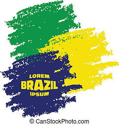 Grunge Smears, using Brazil flag colors