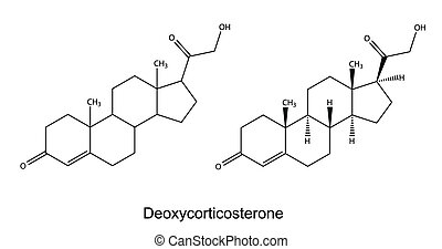 Deoxycorticosterone - Structural chemical formulas of...
