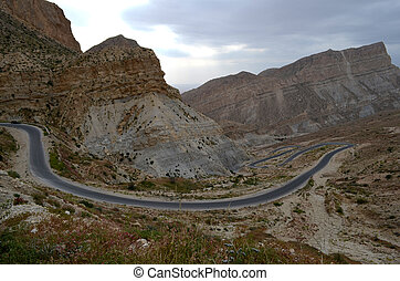 Mountain Road, Iran - Mountain Road of Southern Iran, Zagros...