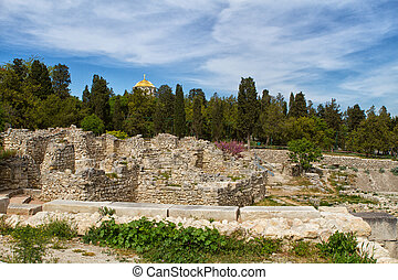 The remains of the ancient city of Chersonesus, 528 years...