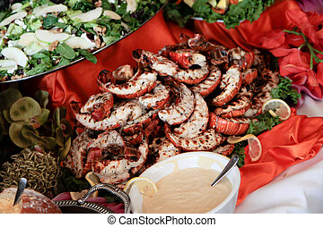 lobster buffet at high-end banquet - lobster buffet at...