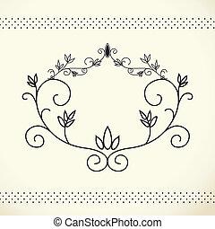floral frame vintage, EPS 10