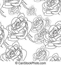 pattern rose seamless, EPS 10