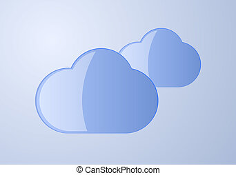 Wolken, blau, Stock Illustration
