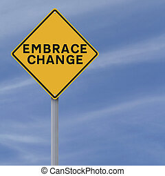 Embrace Change  - A conceptual road sign on Change