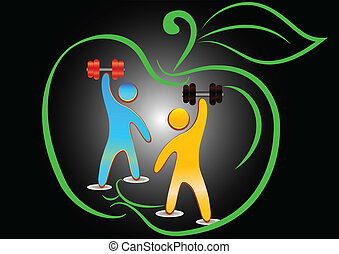 Bodybuilding - symbol of sport and bodibildenhu two men...