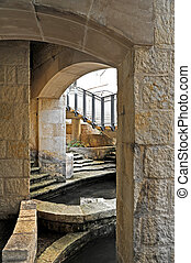 Street Access - Stone Arches leading to Street Access from...
