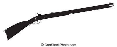 Flintlock Musket - Silhouette of a typical flintlock musket...