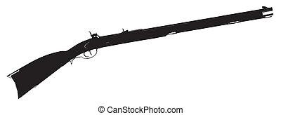 Flintlock Musket - Silhouette of a typical flintlock musket...