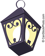 Old street lamp. Illustration in vector format