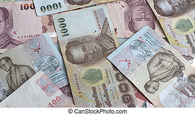 Thai Baht currency denomination of 1000 and 100