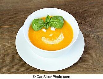 Pumpkin soup for a child
