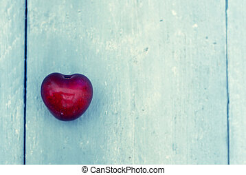 Love - Photo of red heart shape cherry