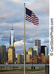 World Trade Center Freedom Tower in Lower Manhattan New York...