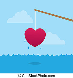Fishing Pole Heart